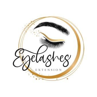 Роскошный дизайн логотипа ресниц красоты