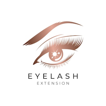 Luxury beauty eyelashes extension logo design