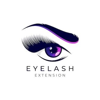 Luxury beauty eyelashes extension logo design