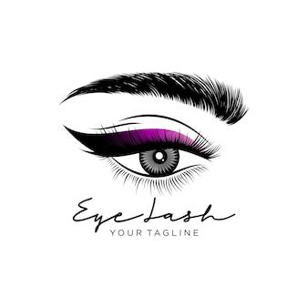 Роскошный логотип ресниц красоты