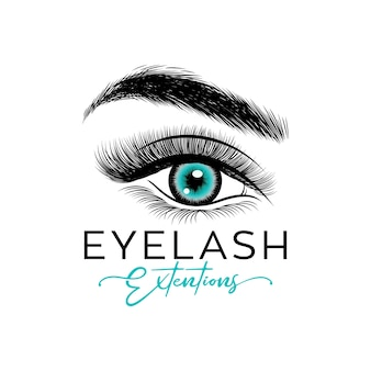 Luxury beauty eyelashes logo