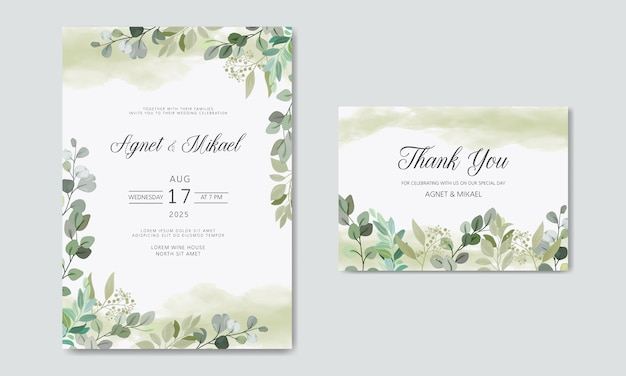 Luxury and beauty floral wedding invitation