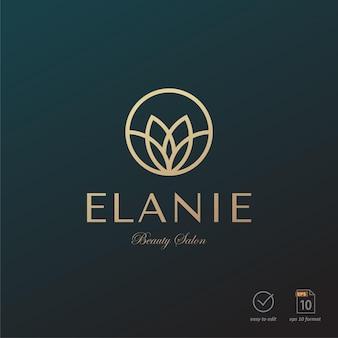 Роскошный дизайн логотипа красоты