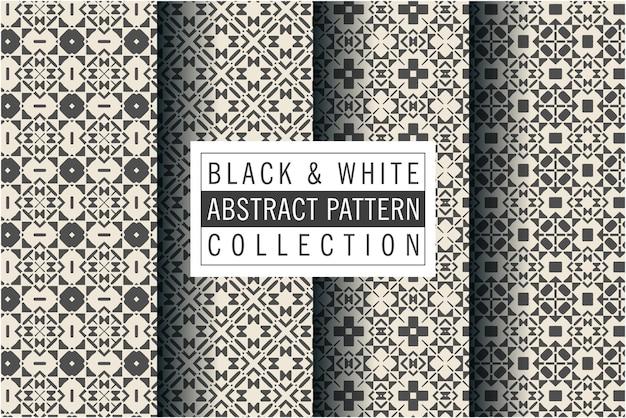 モザイクスタイルで設定された豪華な黒と白のパターン