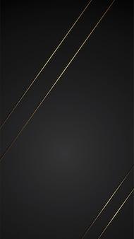 Luxury black background banner illustration with gold strip art deco line symmetry