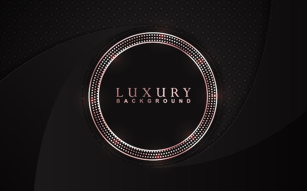 Luxury black background with golden glitters decoration