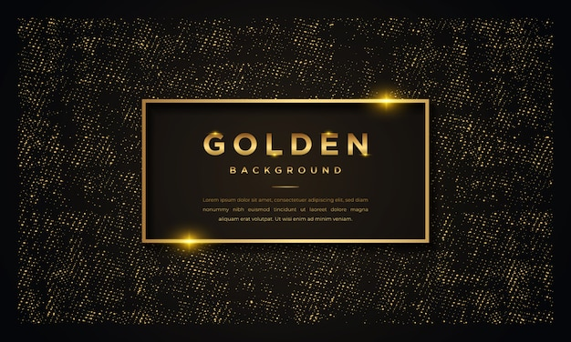 Luxury black background with golden glitters