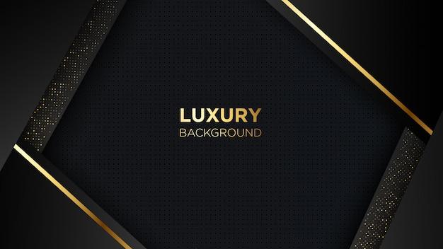 Luxury black background with golden line
