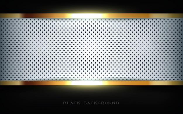 Luxury black background with golden list