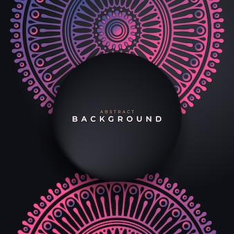 Luxury black background with mandala