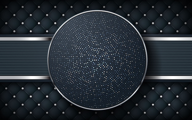 Luxury black background with texture and circle