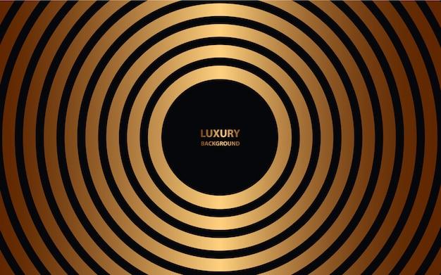 Luxury black circle on golden background