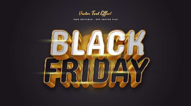 Luxury black friday editable text with 3d effect. editable text style effect