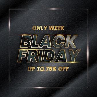 Vendita di lusso venerdì nero elegante per banner pubblicitario