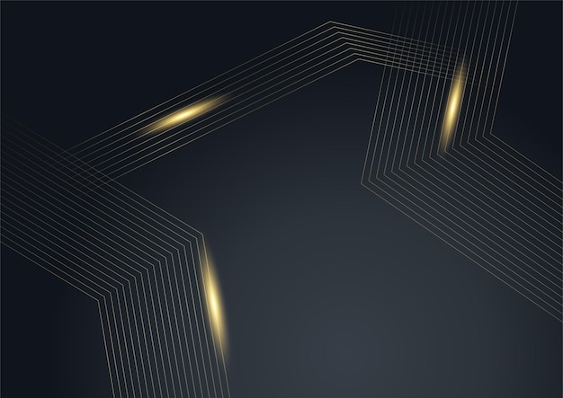 Luxury black and gold abstract background. creative gold dynamic diagonal line pattern. formal premium vector background for business brochure, poster, notebook, menu template