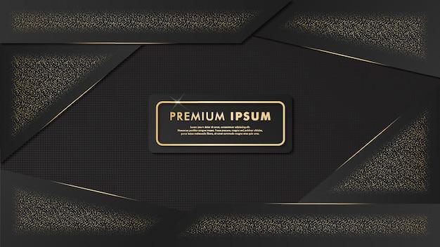 Luxury black-gold background