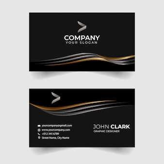 Luxury black and gold business card