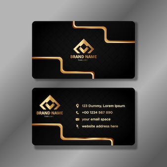 Luxury black and gold business identity cards