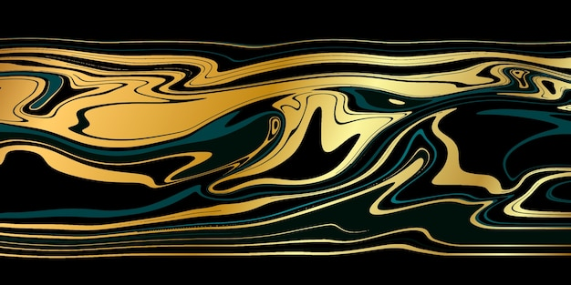 Роскошный черный золотой мрамор текстуры фона