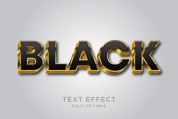 Роскошный черно-золотой текстовый эффект