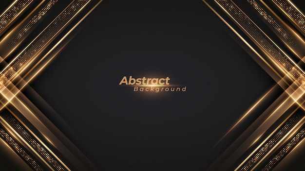 Luxury black and golden background