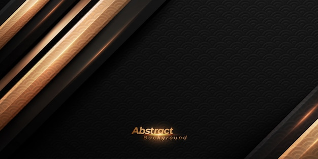 Luxury black and golden background.