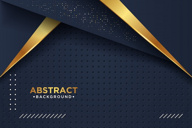 Luxury black overlap layers background with 3d style.