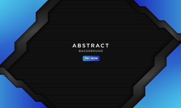 Роскошный синий черный спортивный фон.