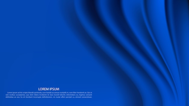 Luxury blue curtain background