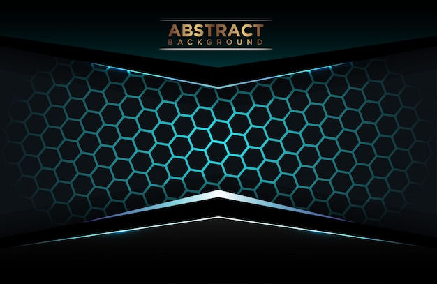 Luxury blue polygonal background