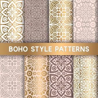 고급 보헤미안 스타일 패턴