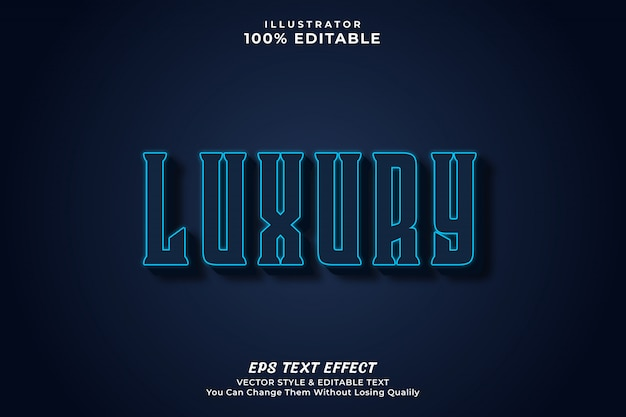 Luxury bold editable text  effect style