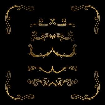 Золотая рамка luxury border