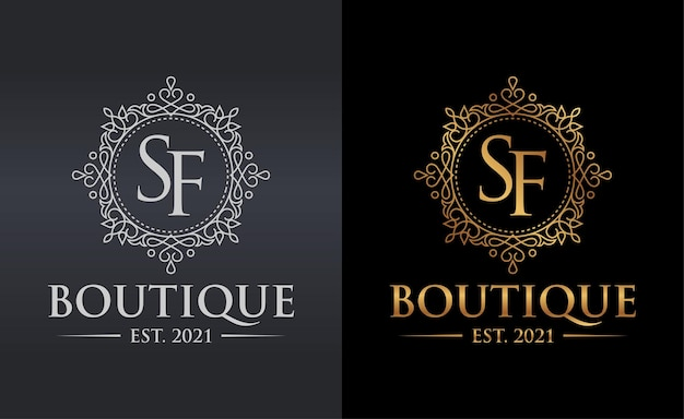 Luxury boutique logo template