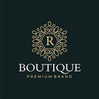 Роскошные шаблоны логотипов бутика