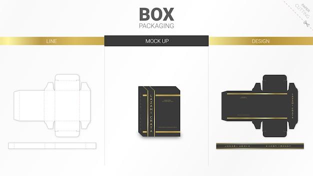 高級ボックス包装とダイカットテンプレート