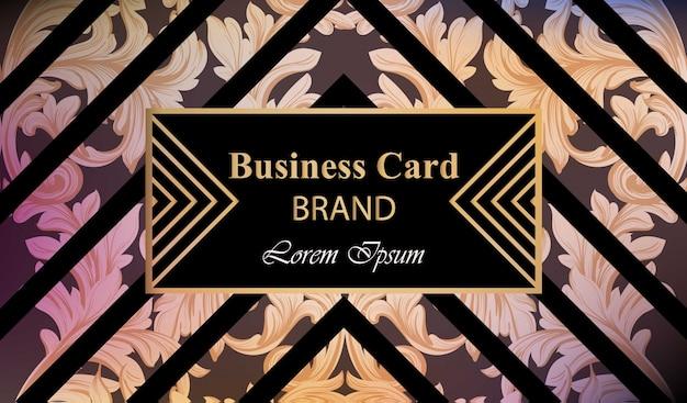 豪華な装飾ベクトルと高級ブランドのカード。抽象的な背景デザインのイラスト。テキストのための場所