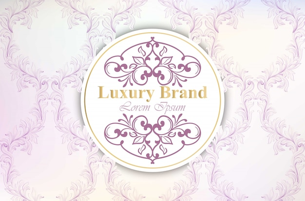 Luxury brand card with luxurious ornament vector. abstract design illustration. place for texts