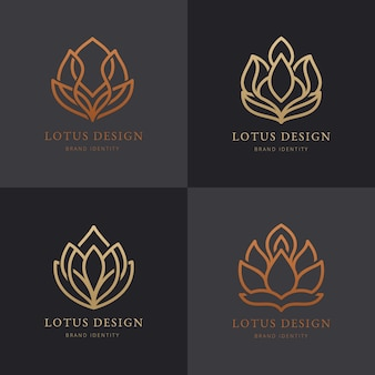 Luxury brand identity logo collection.