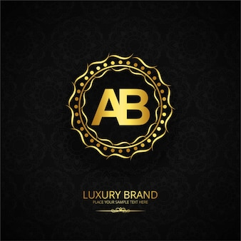 Luxury brand letter ab design
