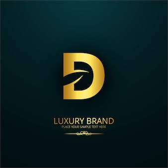 Luxury brand letter d design
