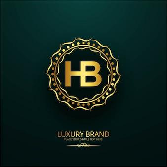 럭셔리 브랜드 편지 hb 디자인