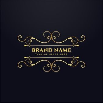 Luxury brand royal logo concept design