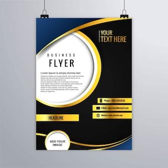 Luxury brochure, dark blue