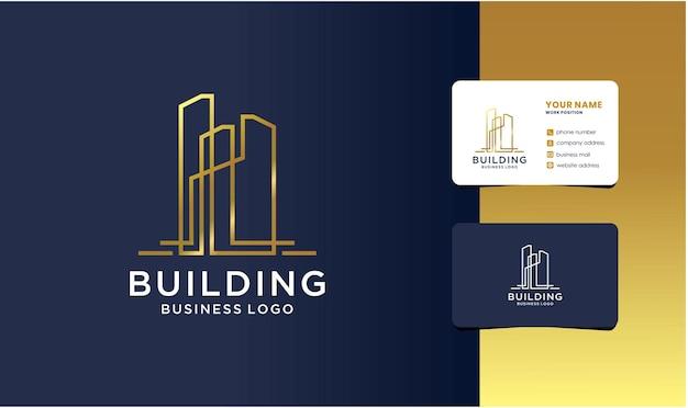 고급 건물 건축 로고 디자인 영감