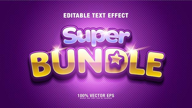Текстовый эффект luxury bundle
