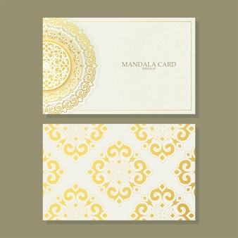 Роскошная визитная карточка и векторный шаблон логотипа старинного орнамента. ретро элегантный процветает орнаментальная рамка и узор фона.