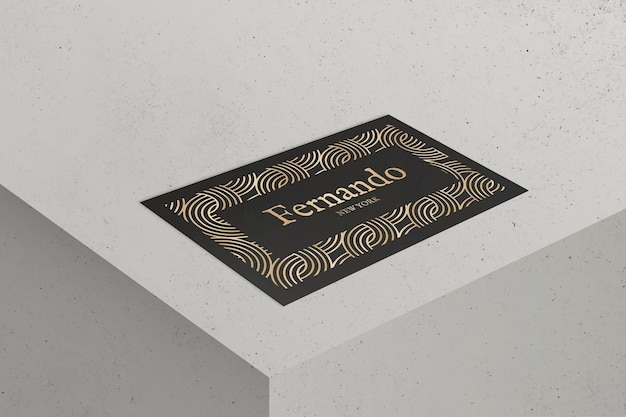 Luxury business card design in black and gold tone