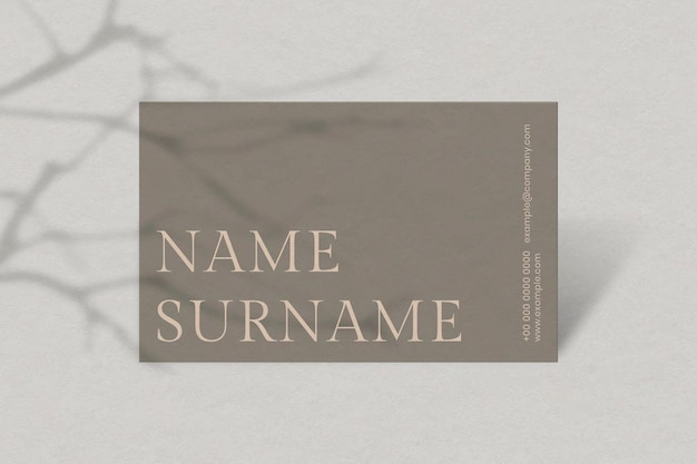 Luxury business card design in brown tone