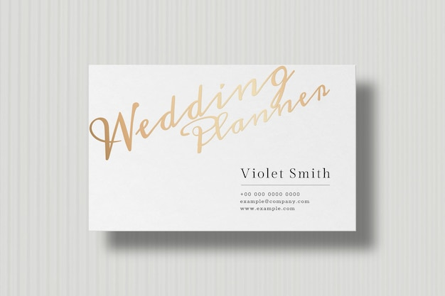 Luxury business card design in white and gold tone